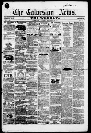 Primary view of object titled 'The Galveston News (Galveston, Tex.), Vol. 14, No. 59, Ed. 1, Saturday, November 10, 1855'.