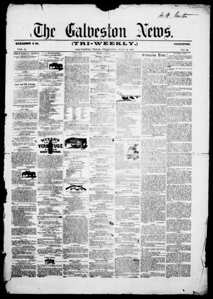 Primary view of object titled 'The Galveston News (Galveston, Tex.), Vol. 15, No. 10, Ed. 1, Thursday, July 24, 1856'.