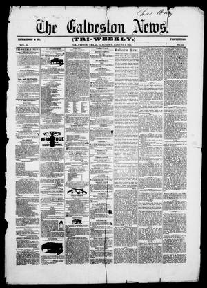 Primary view of object titled 'The Galveston News (Galveston, Tex.), Vol. 15, No. 14, Ed. 1, Saturday, August 2, 1856'.