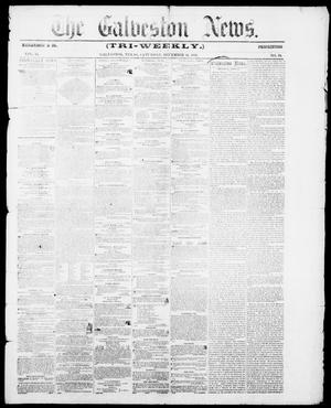 Primary view of object titled 'The Galveston News (Galveston, Tex.), Vol. 15, No. 70, Ed. 1, Saturday, December 13, 1856'.
