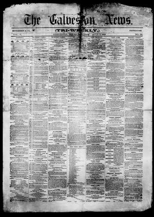 Primary view of object titled 'The Galveston News (Galveston, Tex.), Vol. 17, No. 151, Ed. 1, Saturday, July 2, 1859'.