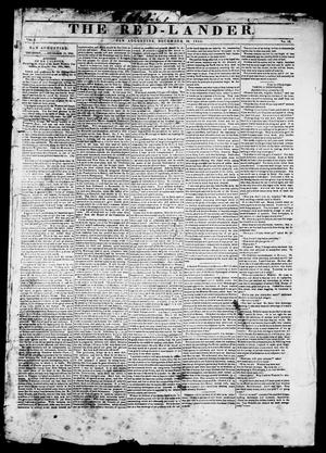Primary view of The Red-Lander. (San Augustine, Tex.), Vol. 6, No. 18, Ed. 1, Thursday, December 18, 1845