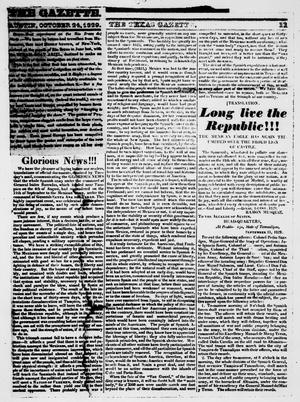 Primary view of object titled 'The Texas Gazette. (San Felipe de Austin, Tex.) Saturday, October 24, 1829'.