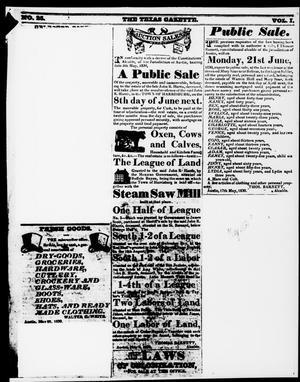 Primary view of The Texas Gazette. (San Felipe de Austin, Tex.), Vol. 1, No. 25, Ed. 1, Monday, March 15, 1830