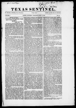 Texas Sentinel. (Austin, Tex.), Vol. 1, No. 26, Ed. 1, Saturday, June 13, 1840