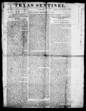 Primary view of object titled 'Texas Sentinel. (Austin, Tex.), Vol. 1, No. 30, Ed. 1, Saturday, July 11, 1840'.