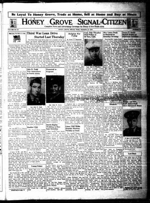 Honey Grove Signal-Citizen (Honey Grove, Tex.), Vol. 53, No. 34, Ed. 1 Friday, September 17, 1943