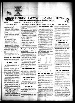 Honey Grove Signal-Citizen (Honey Grove, Tex.), Vol. 78, No. 42, Ed. 1 Friday, November 13, 1970