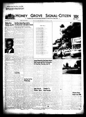 Primary view of object titled 'Honey Grove Signal-Citizen (Honey Grove, Tex.), Vol. 75, No. 25, Ed. 1 Friday, July 1, 1966'.