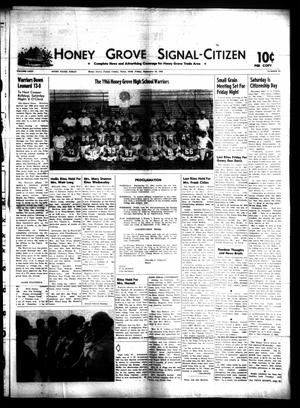 Primary view of object titled 'Honey Grove Signal-Citizen (Honey Grove, Tex.), Vol. 75, No. 36, Ed. 1 Friday, September 16, 1966'.