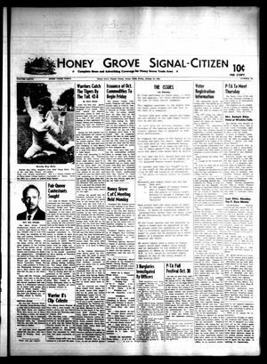 Primary view of object titled 'Honey Grove Signal-Citizen (Honey Grove, Tex.), Vol. 77, No. 39, Ed. 1 Friday, October 10, 1969'.