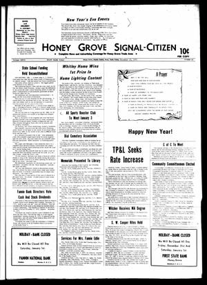 Primary view of object titled 'Honey Grove Signal-Citizen (Honey Grove, Tex.), Vol. 79, No. 49, Ed. 1 Friday, December 31, 1971'.