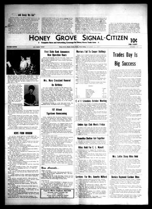 Primary view of object titled 'Honey Grove Signal-Citizen (Honey Grove, Tex.), Vol. 79, No. 36, Ed. 1 Friday, October 1, 1971'.