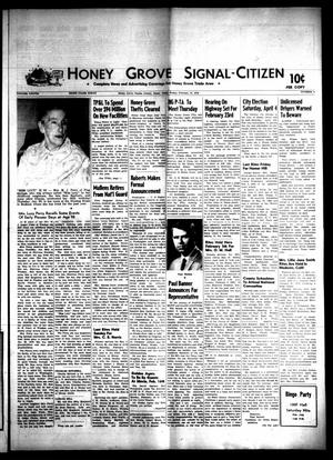 Primary view of object titled 'Honey Grove Signal-Citizen (Honey Grove, Tex.), Vol. 78, No. 4, Ed. 1 Friday, February 13, 1970'.
