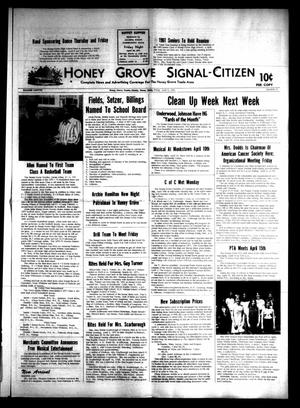 Primary view of object titled 'Honey Grove Signal-Citizen (Honey Grove, Tex.), Vol. 79, No. 11, Ed. 1 Friday, April 9, 1971'.