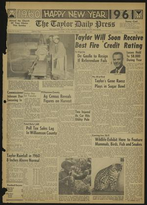 Primary view of object titled 'The Taylor Daily Press (Taylor, Tex.), Vol. 48, No. 11, Ed. 1 Sunday, January 1, 1961'.