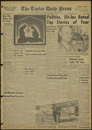 Primary view of object titled 'The Taylor Daily Press (Taylor, Tex.), Vol. 48, No. 6, Ed. 1 Sunday, December 25, 1960'.