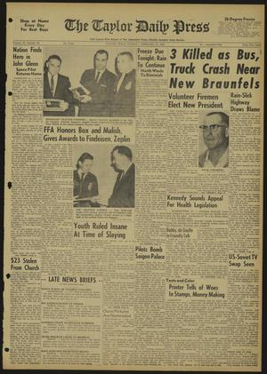 The Taylor Daily Press (Taylor, Tex.), Vol. 49, No. 60, Ed. 1 Tuesday, February 27, 1962