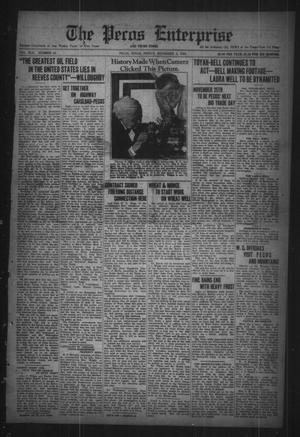 Primary view of The Pecos Enterprise and Pecos Times (Pecos, Tex.), Vol. 42, No. 12, Ed. 1 Friday, November 3, 1922