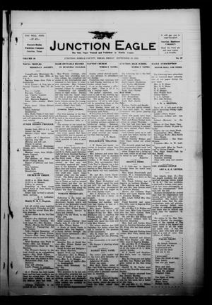 Primary view of object titled 'The Junction Eagle (Junction, Tex.), Vol. 38, No. 20, Ed. 1 Friday, September 23, 1921'.