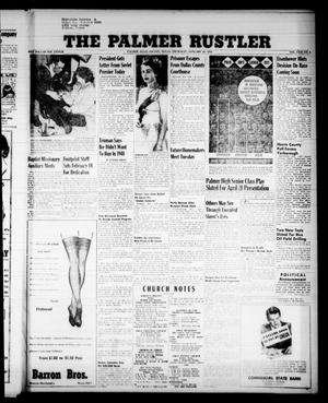 Primary view of object titled 'The Palmer Rustler (Palmer, Tex.), Vol. 31, No. 4, Ed. 1 Thursday, January 26, 1956'.