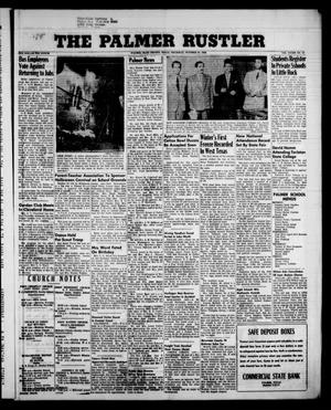 Primary view of object titled 'The Palmer Rustler (Palmer, Tex.), Vol. 33, No. 43, Ed. 1 Thursday, October 23, 1958'.