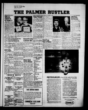 Primary view of object titled 'The Palmer Rustler (Palmer, Tex.), Vol. 33, No. 42, Ed. 1 Thursday, October 16, 1958'.