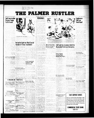 Primary view of object titled 'The Palmer Rustler (Palmer, Tex.), Vol. 34, No. 32, Ed. 1 Thursday, August 6, 1959'.