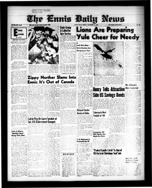 Primary view of object titled 'The Ennis Daily News (Ennis, Tex.), Vol. 68, No. 269, Ed. 1 Friday, November 13, 1959'.