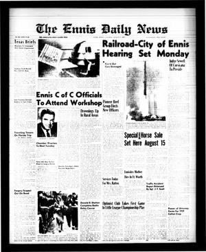 Primary view of object titled 'The Ennis Daily News (Ennis, Tex.), Vol. 68, No. 187, Ed. 1 Saturday, August 8, 1959'.