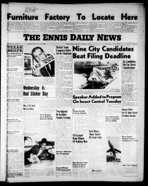 Primary view of object titled 'The Ennis Daily News (Ennis, Tex.), Vol. 65, No. 54, Ed. 1 Monday, March 5, 1956'.