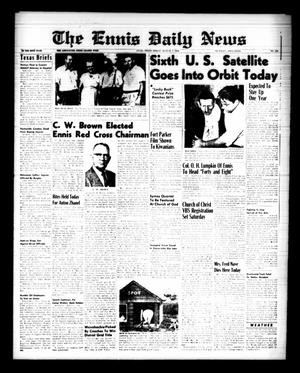 Primary view of object titled 'The Ennis Daily News (Ennis, Tex.), Vol. 68, No. 186, Ed. 1 Friday, August 7, 1959'.