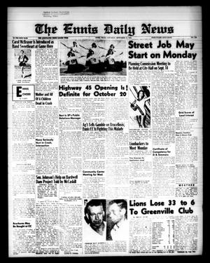 Primary view of object titled 'The Ennis Daily News (Ennis, Tex.), Vol. 68, No. 216, Ed. 1 Saturday, September 12, 1959'.