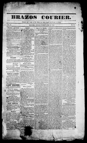 Primary view of Brazos Courier. (Brazoria, Tex.), Vol. 2, No. 10, Ed. 1, Tuesday, April 21, 1840