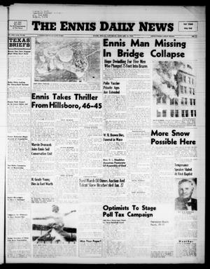 Primary view of object titled 'The Ennis Daily News (Ennis, Tex.), Vol. 65, No. 17, Ed. 1 Saturday, January 21, 1956'.