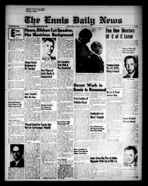 Primary view of object titled 'The Ennis Daily News (Ennis, Tex.), Vol. 68, No. 229, Ed. 1 Monday, September 28, 1959'.