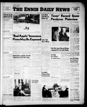 Primary view of object titled 'The Ennis Daily News (Ennis, Tex.), Vol. 65, No. 29, Ed. 1 Saturday, February 4, 1956'.
