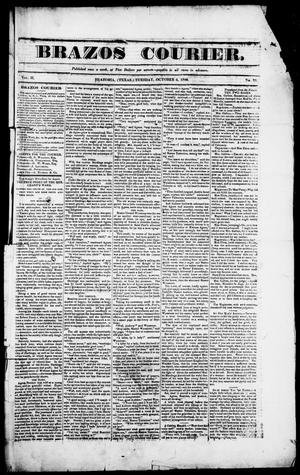 Primary view of object titled 'Brazos Courier. (Brazoria, Tex.), Vol. 2, No. 33, Ed. 1, Tuesday, October 6, 1840'.