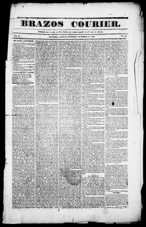 Primary view of object titled 'Brazos Courier. (Brazoria, Tex.), Vol. 2, No. 36, Ed. 1, Tuesday, October 27, 1840'.