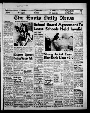 Primary view of object titled 'The Ennis Daily News (Ennis, Tex.), Vol. 67, No. 235, Ed. 1 Saturday, October 4, 1958'.
