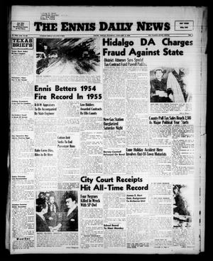 Primary view of object titled 'The Ennis Daily News (Ennis, Tex.), Vol. 65, No. 1, Ed. 1 Tuesday, January 3, 1956'.