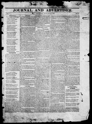 Primary view of Journal and Advertiser. (San Augustine, Tex.), Vol. 1, No. 26, Ed. 1, Monday, November 9, 1840