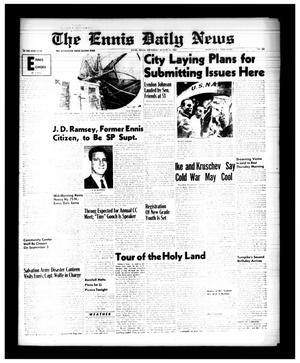Primary view of object titled 'The Ennis Daily News (Ennis, Tex.), Vol. 68, No. 203, Ed. 1 Thursday, August 27, 1959'.