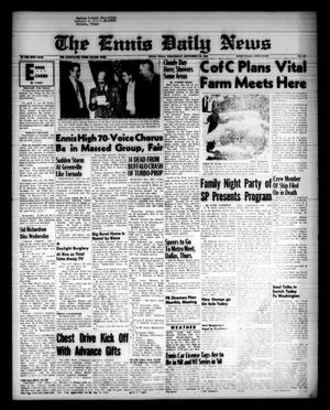 Primary view of object titled 'The Ennis Daily News (Ennis, Tex.), Vol. 68, No. 231, Ed. 1 Wednesday, September 30, 1959'.