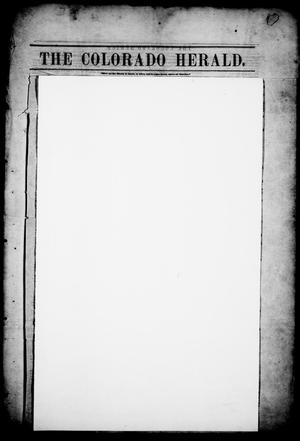 Primary view of object titled 'The Colorado Herald. (Matagorda, Tex.), Vol. 2, Ed. 1, Friday, January 1, 1847'.
