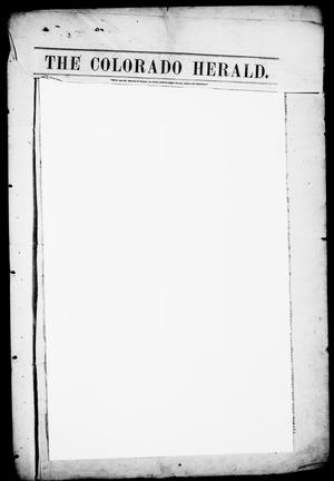 Primary view of object titled 'The Colorado Herald. (Matagorda, Tex.), Vol. 2, Ed. 1, Friday, January 8, 1847'.