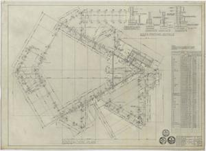 Primary view of object titled 'University Baptist Church Auditorium, Abilene, Texas: Foundation Plan'.