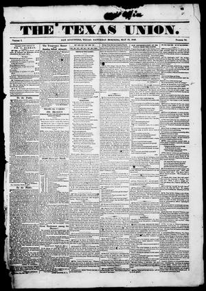 Primary view of The Texas Union.(San Augustine, Tex.), Vol. 1, No. 34, Ed. 1, Saturday, May 27, 1848