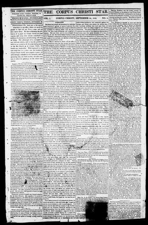Primary view of object titled 'The Corpus Christi Star. (Corpus Christi, Tex.), Vol. 1, No. 3, Ed. 1, Tuesday, September 26, 1848'.