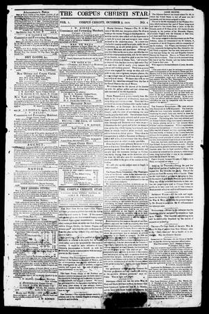 Primary view of object titled 'The Corpus Christi Star. (Corpus Christi, Tex.), Vol. 1, No. 4, Ed. 1, Tuesday, October 3, 1848'.